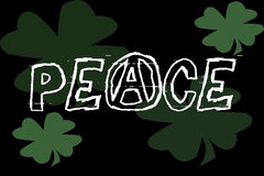 Peace Banner. Illustration Royalty Free Stock Photo