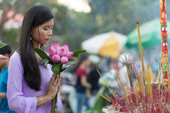 Peace and beauty in prayer Royalty Free Stock Photography
