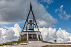 Peace Bell on the Kronplatz (2275 m) Royalty Free Stock Photos