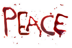 Peace and blood royalty free stock image