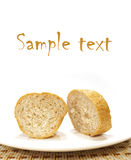 Peace of bread isolated Royalty Free Stock Photography
