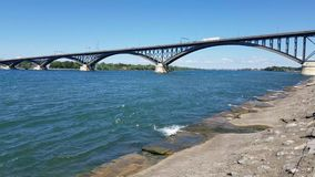 Peace Bridge stock footage