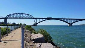 Peace Bridge stock video footage