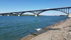 Peace Bridge stock footage