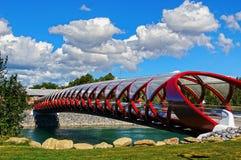 Peace Bridge Calgary (2) Stock Photo