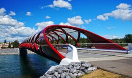 Peace Bridge Calgary Alberta. Stock Photography