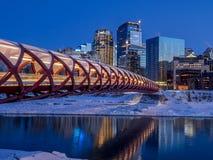 Peace Bridge in Calgary royalty free stock photography