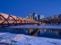 Peace Bridge in Calgary Stock Photography
