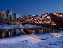 Peace Bridge in Calgary royalty free stock photo