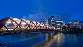 Peace Bridge, Calgary stock photo