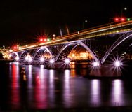 Peace Bridge crossing to Canada royalty free stock photo