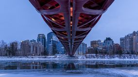 Peace Bridge, Day to Night timelapse stock video footage