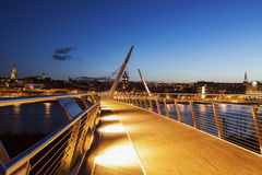 Peace Bridge in Derry Royalty Free Stock Photo