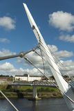 The Peace Bridge in Londonderry Northern Ireland Stock Photo