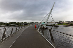the Peace Bridge, Londonderry, Northern Ireland Stock Photography