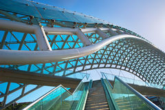 Peace bridge. Tbilisi, Georgia Royalty Free Stock Images