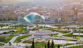 Peace Bridge in Tbilisi Stock Photography
