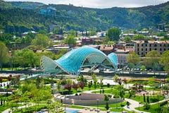 Peace Bridge, Tbilisi, Georgia Stock Photo