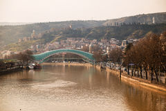 Peace Bridge in Tbilisi Stock Images