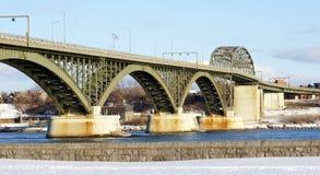 Peace Bridge in Winter stock photo