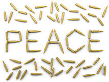 Peace of the bullets Royalty Free Stock Photography