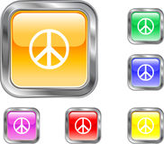 Peace Button Royalty Free Stock Photography