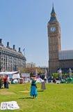 Peace Camp Parliament Square Stock Photo