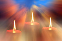 Peace candles Stock Photography