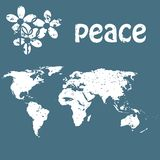 Peace card concept Royalty Free Stock Images
