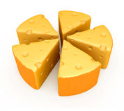 A peace of cheese Royalty Free Stock Image