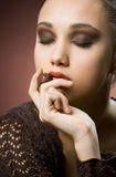 Peace of chocolate heaven. Royalty Free Stock Images