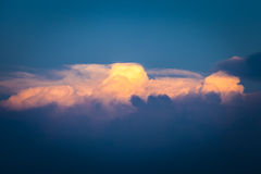 Peace cloud and sky over ocean. Royalty Free Stock Photos