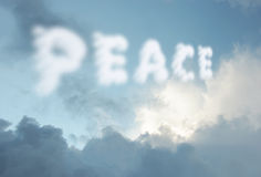 Peace clouds Royalty Free Stock Images