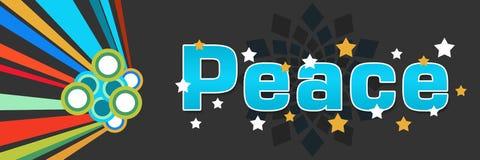 Peace Colorful Dark Stock Image