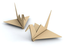 Peace concept origami crane paper bird Royalty Free Stock Photos