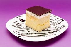 Peace of Cream Cake Stock Photos