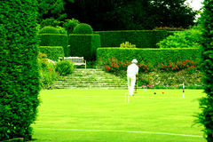 The Peace of a croquet lawn stock images