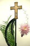 Peace cross floral art Stock Image