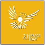 Peace Day background vector. designs for posters, backgrounds, cards, banners, stickers, etc. EPS file available. see more images related stock illustration