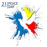 Peace Day background vector. designs for posters, backgrounds, cards, banners, stickers, etc. EPS file available. see more images related vector illustration
