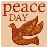 Peace day and bird Royalty Free Stock Photos