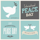 Peace Day Cards Collection Royalty Free Stock Photography