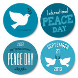 Peace Day Stickers Collection Royalty Free Stock Photography