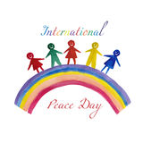 Peace day  watercolor illustration Stock Images