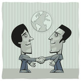 Peace deal. Two men shaking hands after peace deal is achieved Royalty Free Stock Images
