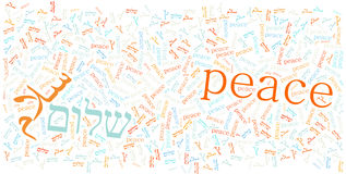 Peace in different languages Royalty Free Stock Image
