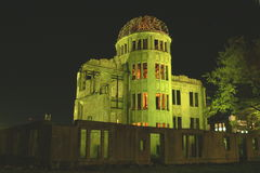 Peace Dome, Hiroshima. Hiroshima's Peace Dome at night Royalty Free Stock Image