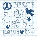 Peace doodle set royalty free illustration