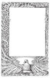 Peace dove feather  frame vector illustration Stock Photography