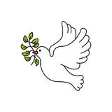 Peace dove with olive branch. Vector illustration design stock illustration